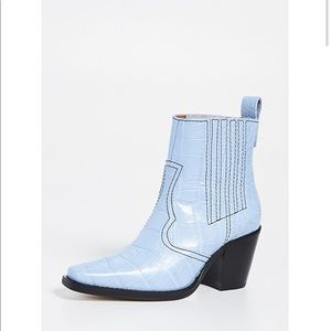 ISO Ganni Western boot Heather Blue